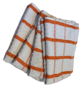 4 x Orange Extra Large Cotton TEA TOWELS