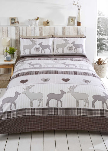 Natural ST ANDREWS Flannelette Duvet Cover Set by Rapport