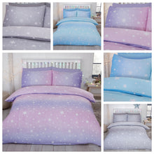 Grey Flannelette Starburst Reversible Pair of Pillowcases by Bedding Heaven
