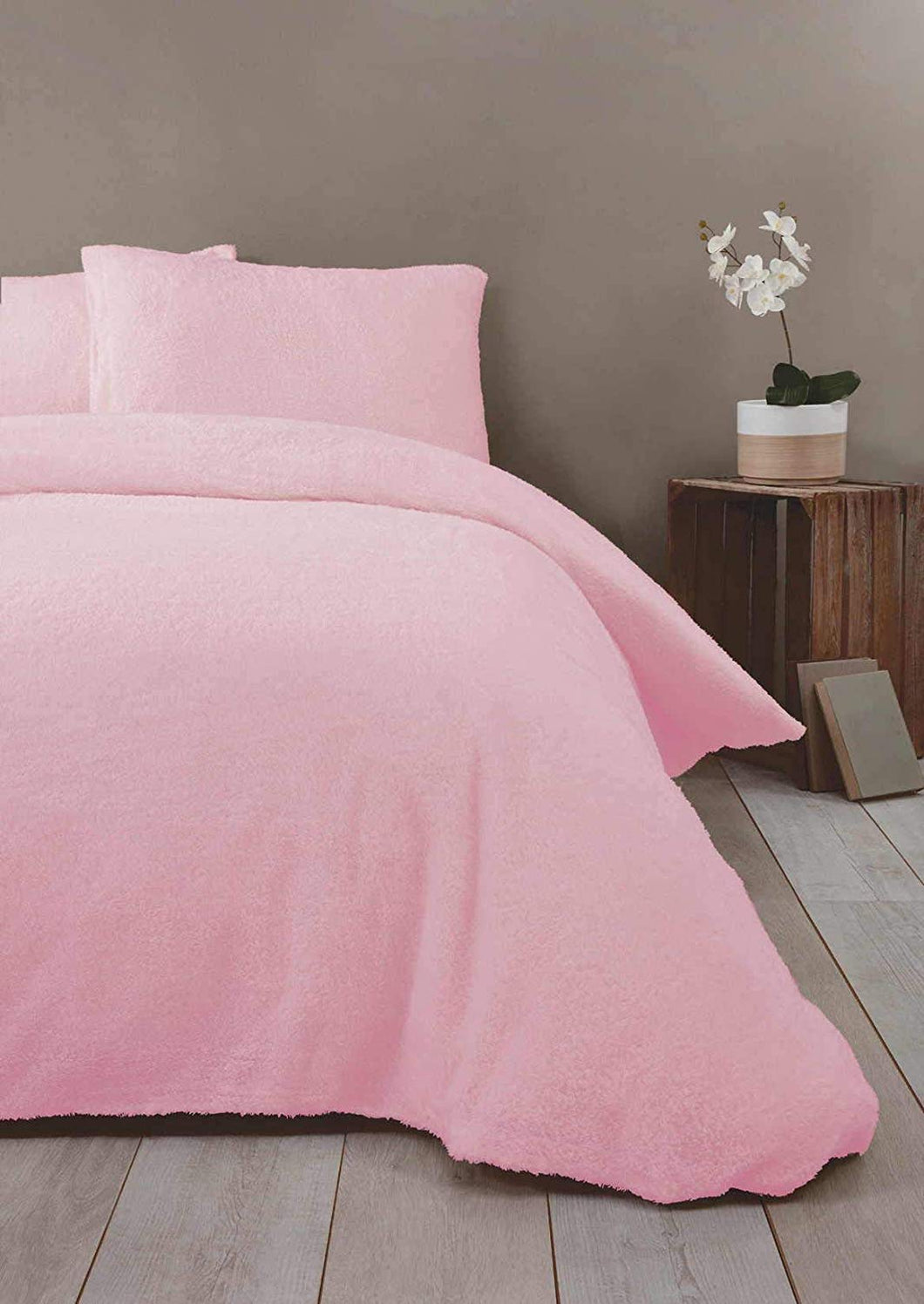 Soft Pink TEDDY BEAR Snuggle Fleece Duvet Cover Set by Rapport