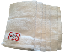 6 x White Cotton GUEST TOWELS 400gsm by Linens Direct