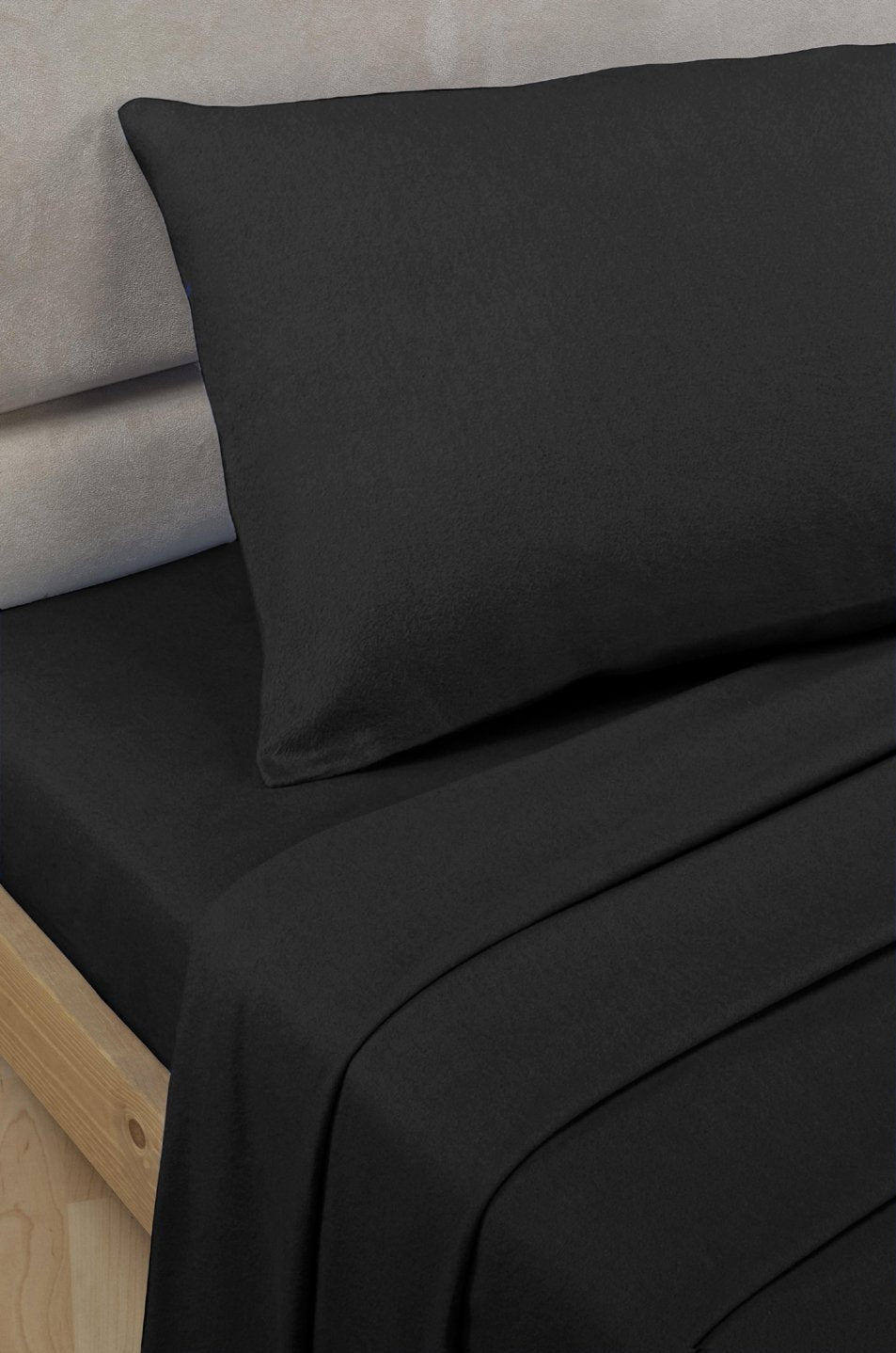 Black Percale Polycotton 2' 6