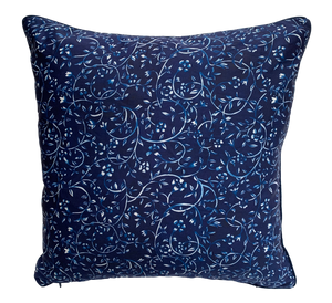 LBIS Blue & White Floral Print Cushion Cover