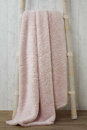 Pink TEDDY BEAR Snuggle Fleece Throwover Blanket 130 x 180cm