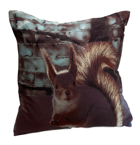 CENTRAL PARK Red Squirrel Print Cushion, 45 x 45cm