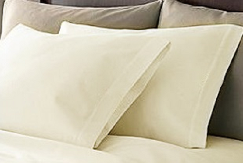 Cream Housewife Egyptian Cotton Pillowcases 400 TC by Rapport