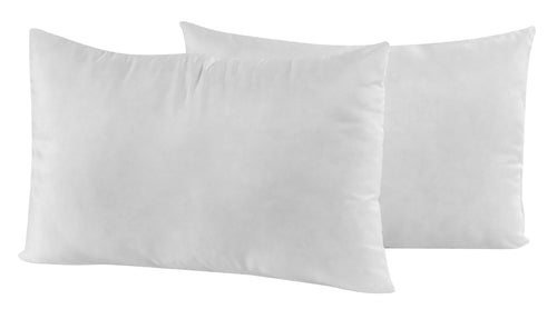 Pair of Softened Feather Fibre Pillows by Fogarty