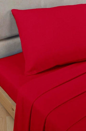 Red Percale/Polycotton Pillowcases 180 TC by Rapport