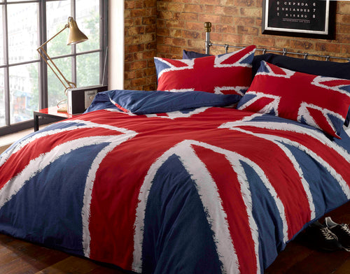 Red, White & Blue UNION JACK Duvet Cover Set by Rapport