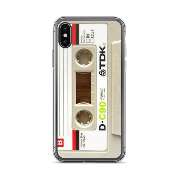 iPhone X Case, Cassette Case, iPhone X funny case