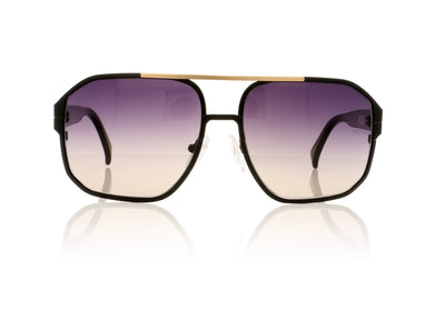 AM Eyewear Angelo 91 BL-GRG Black Sunglasses da VSTA
