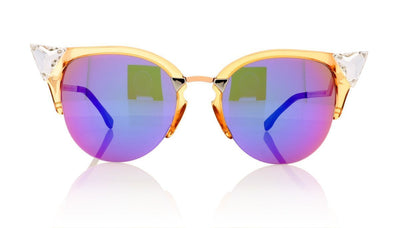 Fendi FF 0041/S 9F6 Translucent Peach Sunglasses da VSTA