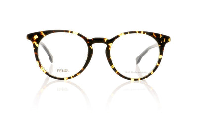 Fendi FF 0112 H1U Yellow Spotted Havana Glasses da VSTA
