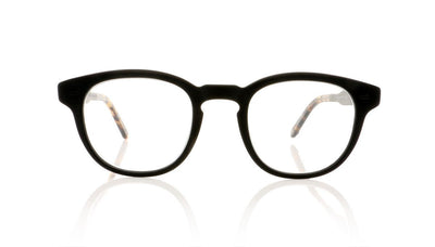 Garrett Leight Warren 1051 MBK/MBK DKTF Matte Black Glasses da VSTA