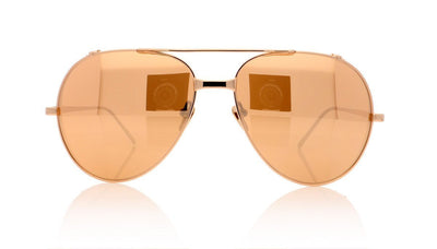 Linda Farrow LFL/426 C3 Rose Gold Sunglasses da VSTA