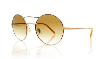 Oliver Peoples Nickol OV1214S 52718E Brushed Gold Sunglasses da VSTA