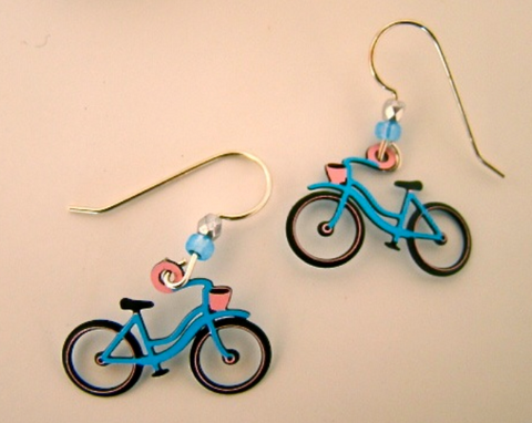Bike Earrings (Multiple Colors)