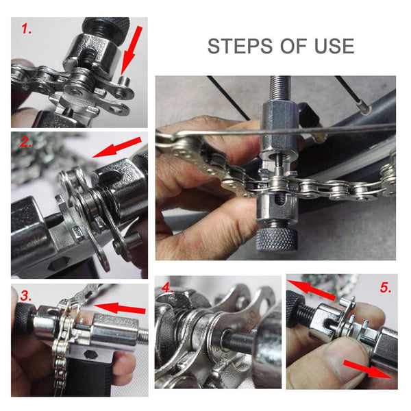 2017 Bike Chain Breaker Cutter Removal Tool Remover Cycle Solid Repairing Tools Bicycle Chain Pin Splitter Device #ES