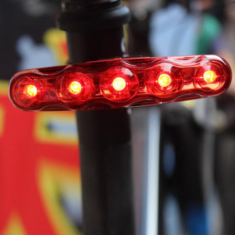 1PC Waterproof 5 LED 3 Mode Cycling Bicycle Bike Warning Safety Rear Tail Light Bike Accessories #EW