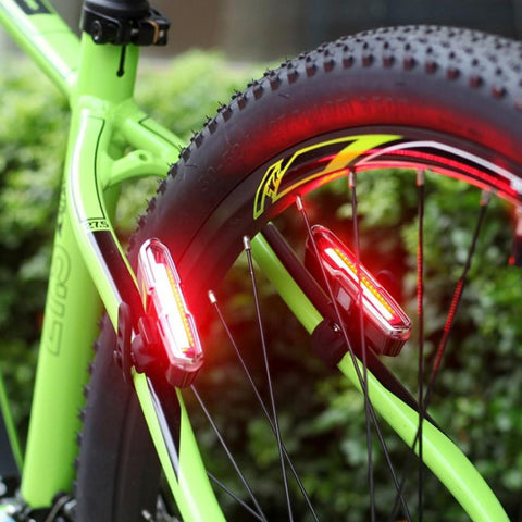 5 Modes USB Rechargeable COB LED Bicycle Bike Cycling Front Rear Tail Light Lamp MTB Accessories wholesale #EW