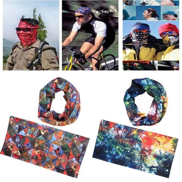 Outdoor Sports Magic Headband Warmer Cycling Bike Bicycle Riding Face Mask Head Scarf Scarves Bandana