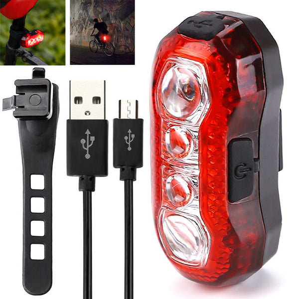 1pc USB Charging Bicycle Bike Tail Rear Light Super Bright LED Lamp Waterproof Sport Bike Accessories #S0