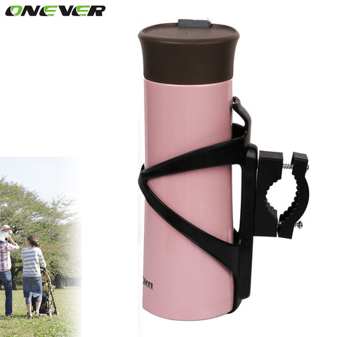 ONEVER Cup Drink Holder For Baby Stroller Bike Children's Bicycle Bottle Rack Black Newborn Kids Stroller Accessories