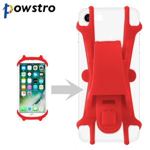 Powstro Silicone Bike Bicycle Handlebar Cell Phone Holder Bracket Mount Bump Protection Adjustable Universal for all Cell Phone