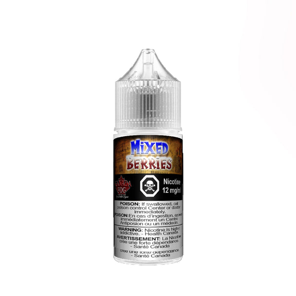 Mixed Berries Salt Nic 30ml - Record Vapes Premium E-juice Online / Free Shipping Over $55