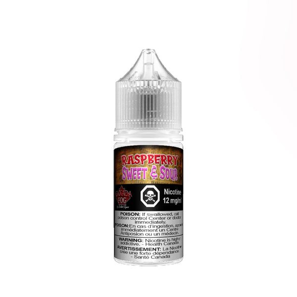 Raspberry Sweet & Sour Salt Nic 30ml - Record Vapes Premium E-juice Online / Free Shipping Over $55