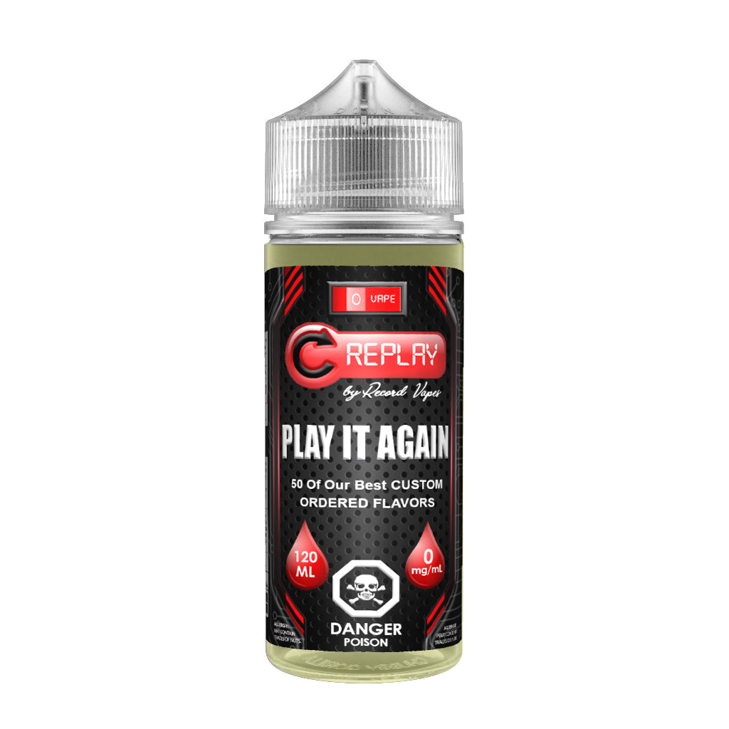 Replay by Record Vapes E-juice Canada - Custom, Bargain Discount