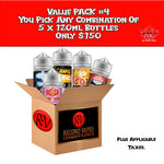 Value Pack #4: 5x120ml - Record Vapes Premium E-juice Online / Free Shipping Over $55