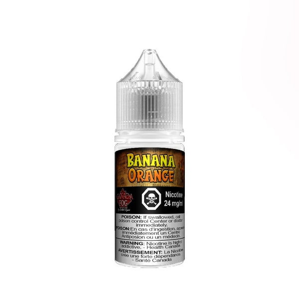 Banana Orange Salt Nic 30ml - Record Vapes Premium E-juice Online / Free Shipping Over $55