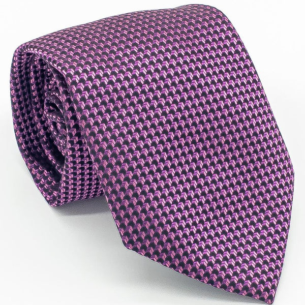 Purple Silk Woven Textured Tie XL - Cameron Michael Ties