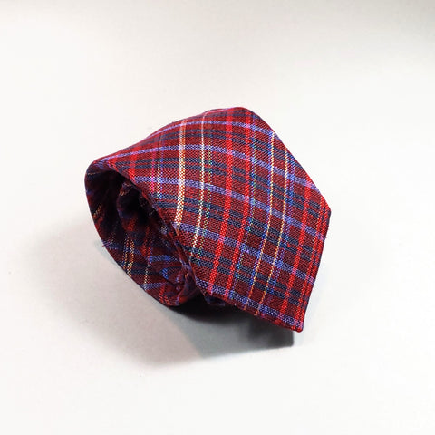 Tartan Plaid Italian Silk / Wool Tie