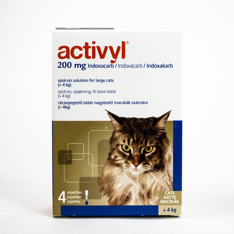 Activyl Spot-on 200mg For Large Cats 2-9 lbs (>4 kg)