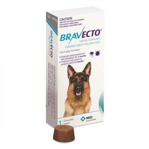 Bravecto Chewable for Large Dogs 44-88lbs (20-40kg) |