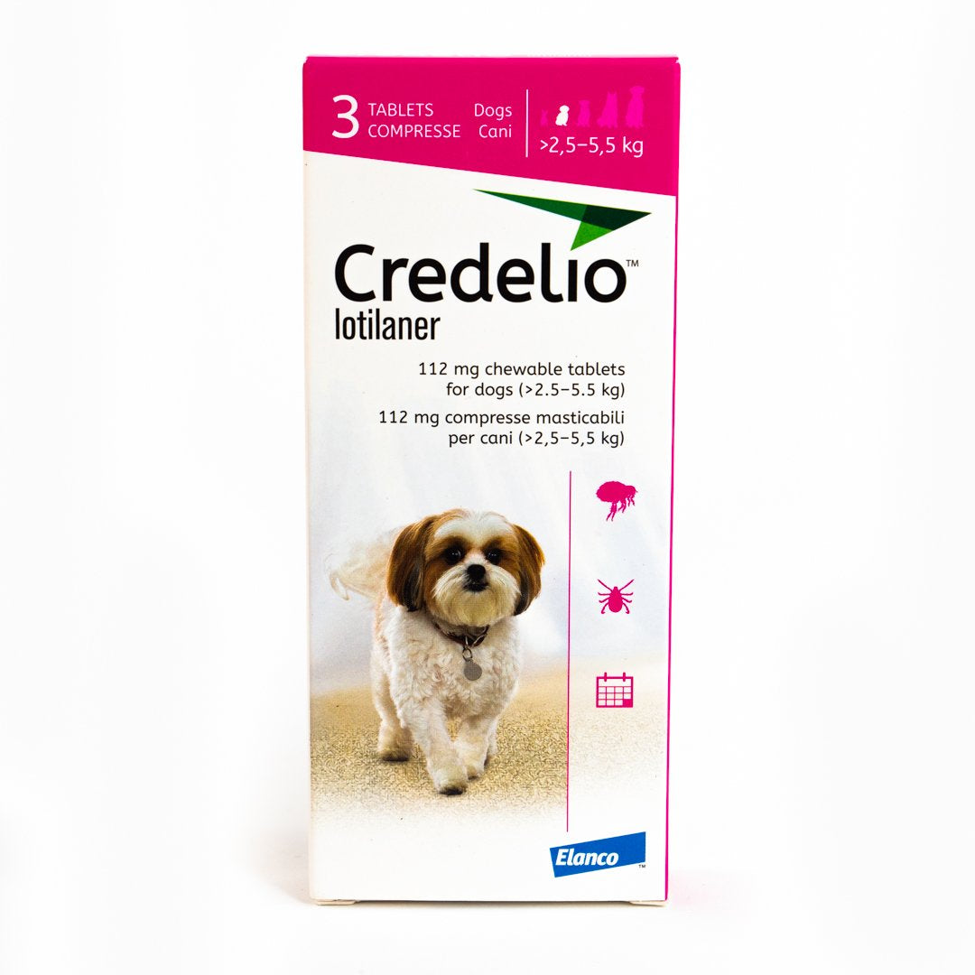Credelio Flea & Tick Chewable Tablets For Dogs 2.5-5 kg (06-12 lbs)