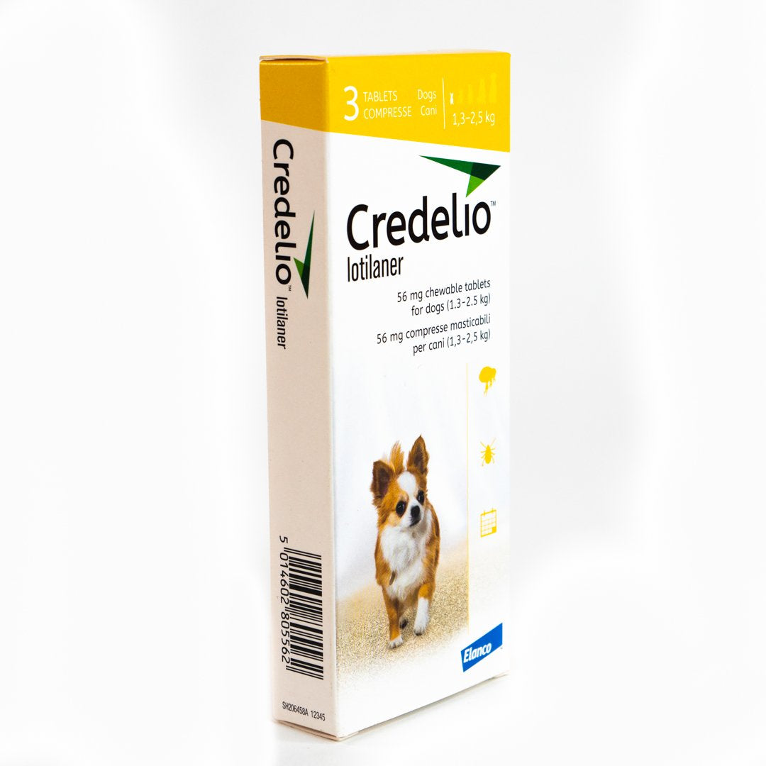 Credelio Flea & Tick Chewable Tablets For Dogs 1.3-2.5 kg (04-06 lbs)