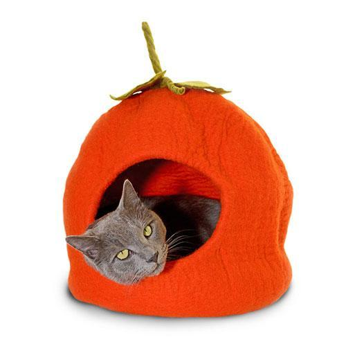 Dharma Dog Karma Cat Orange Pumpkin Cat Cave | .Com