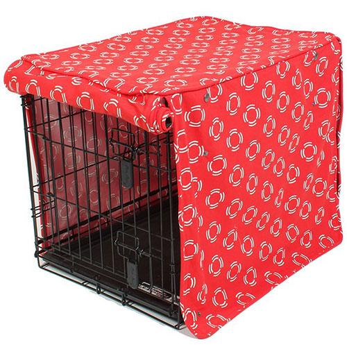 Molly Mutt Lady in Red Crate Cover | Singpet.Com