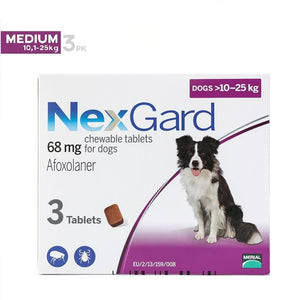 NexGard Chews For Medium Dogs 24.1-60 lbs