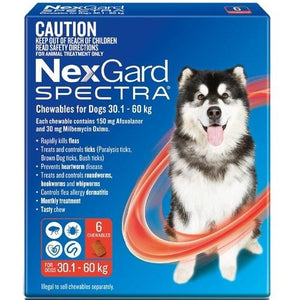 NexGard Spectra X-Large Dogs 66-132 lbs (30-60 kg), 6 Pack | UnitetPetWorld