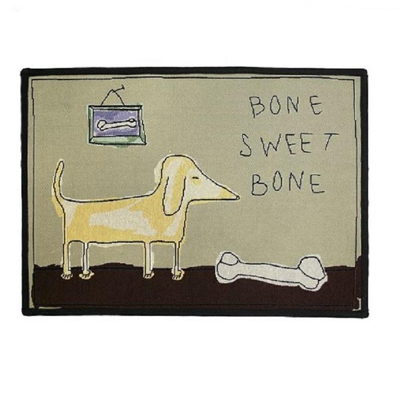 PB Paws & Co. Tapestry Pet Mats, Bone Sweet Bone Pattern