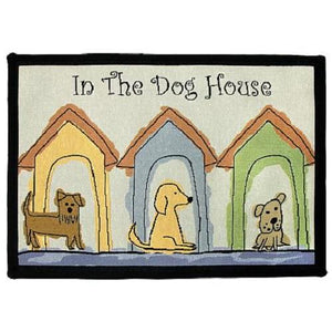 PB Paws & Co. Tapestry Pet Mats, Dog Houses Pattern | Singpet.Com