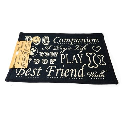 PB Paws & Co. Tapestry Pet Mats, Dog Play Companion Pattern | Singpet.Com