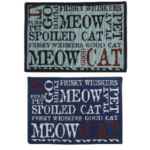 PB Paws & Co. Tapestry Pet Mats, Good Cat Pattern