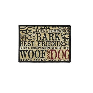 PB Paws & Co. Tapestry Pet Mats, Good Dog Pattern (Sand)