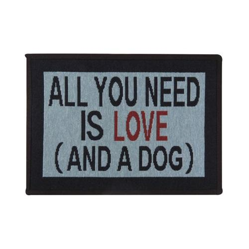 PB Paws & Co. Tapestry Pet Mats, Need Love & Dog Pattern