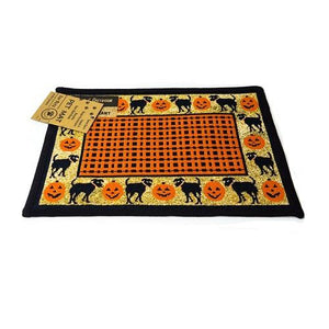 PB Paws & Co. Tapestry Pet Mats, Puppies & Pumpkins Pattern | Singpet.Com